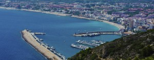 Javea port overlooked near the lighthouse