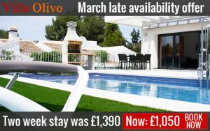 Wheelchair Villa Spain - March 2017 Offer