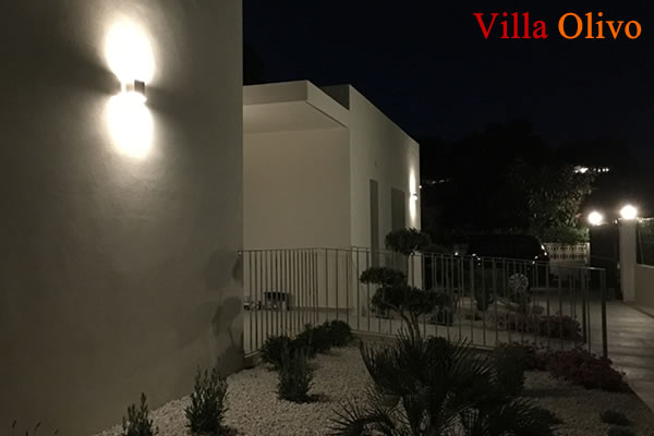 Night lighting at wheelchair accessible villa