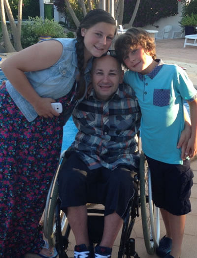 Lee Colbran - Owner of a wheelchair accessible holiday villa