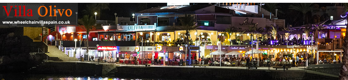 Some of the bars and restaurants at Arenal beach, Javea