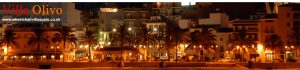 Some of the bars and restaurants at night at Javea Port