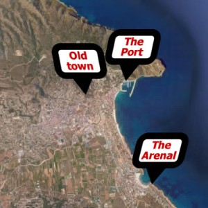 The three areas of Javea