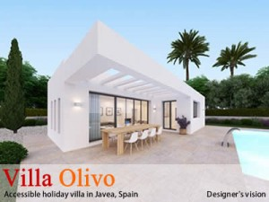 Accessible holiday villa in Spain, the designers vision