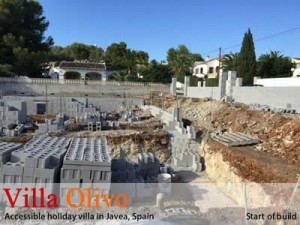Wheelchair accessible villa in Spain at start of build