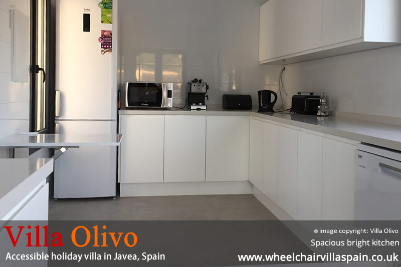 Spacious adapted disabled friendly kitchen