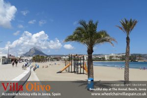 Beautiful sunny day at Arenal Beach Javea
