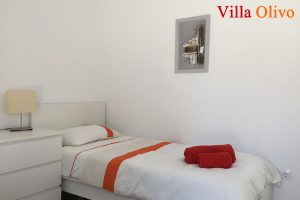 Guest bedroom at disabled holiday villa