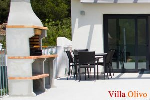 Outside dining area at wheelchair access villa