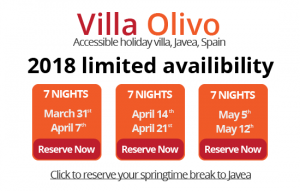 Spring breaks to Villa Olivo, Javea, Spain