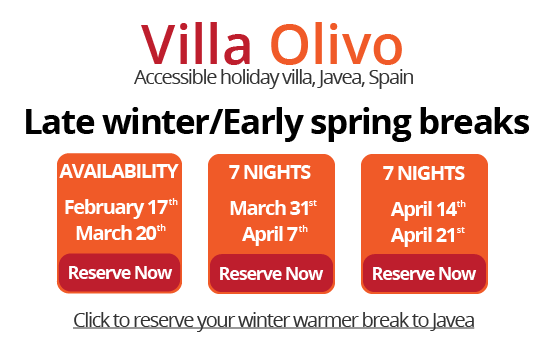 2018 Disabled Holidays in Spain