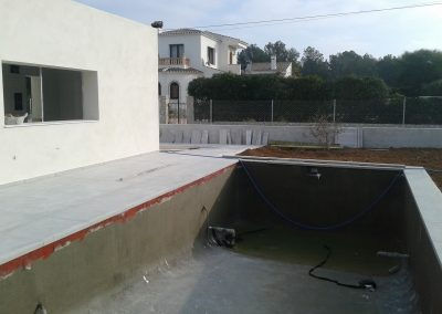 Swimming pool before tiling
