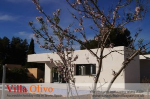Villa Olivo (disabled holiday villa) with landscaping