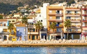 Houses and apartments near the port at Javea, Spain