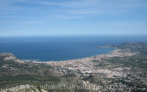 View of Javea from Mount Montgo