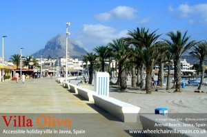 Arenal beach in Javea Spain