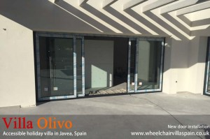 New doors at disabled holiday villa-in-spain