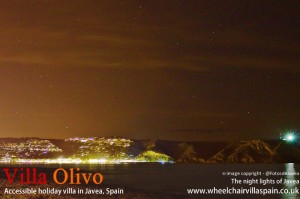 The night lights of Javea