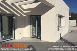 Windows and doors at brand new villa in spain