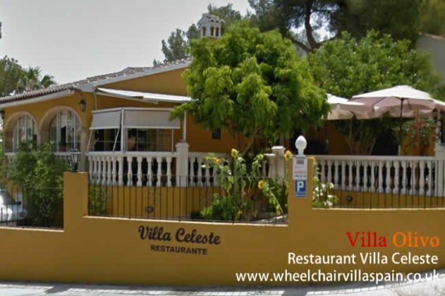 Villa Celeste Restaurant in Javea, Spain